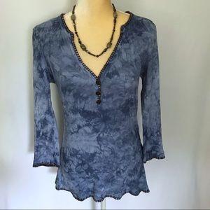 Vintage Blue Tye-Dye Blouse S